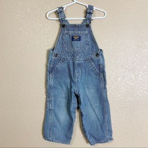Oshkosh B'Gosh toddler boy striped overalls